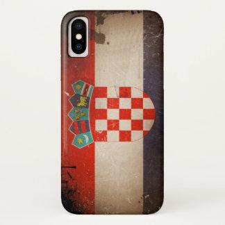 Coque iPhone X Conception sale fraîche de drapeau de la Croatie