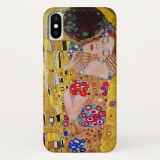 Coque iPhone X Le baiser par Gustav Klimt, art vintage Nouveau