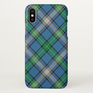 Coque iPhone X Plaid de tartan écossais de MacDowall de clan