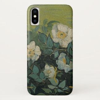 Coque iPhone X Roses sauvages de Van Gogh, beaux-arts vintages de