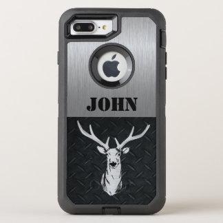 Coque OtterBox Defender iPhone 8 Plus/7 Plus Cerfs communs faits sur commande chassant le cas