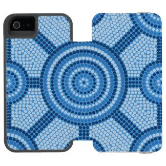 Coque-portefeuille iPhone 5 Incipio Watson™ Peinture indigène de point