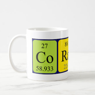 Coraline Namen-Tasse periodischer Tabelle Kaffeetasse