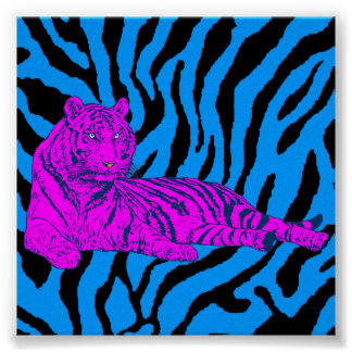 Corey Tiger-80er Retro Aufenthaltsraum-Tiger Poster