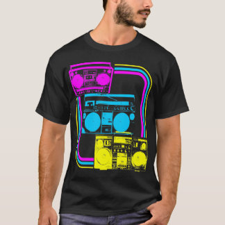 Corey Tiger-80er Retro Boombox Radio T-Shirt