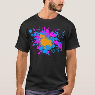 Corey Tiger-80er Retro Farben-Spritzer T-Shirt
