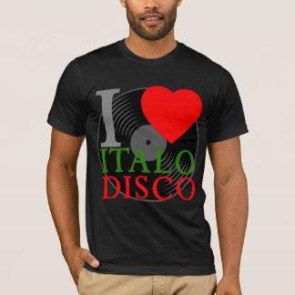 Corey Tiger-80er Retro I Liebe Italo Disco T-Shirt