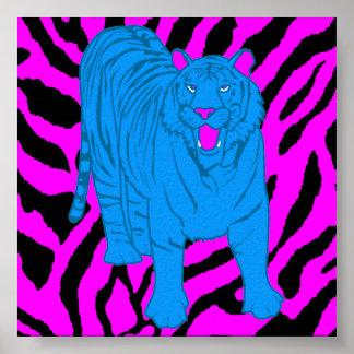 Corey Tiger-80er Retro Knurrentiger Poster