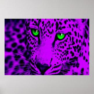 Corey Tiger-80er Retro Leopard Poster