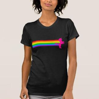 Corey Tiger-80er Retro Vintager RegenbogenUnicorn T-Shirt