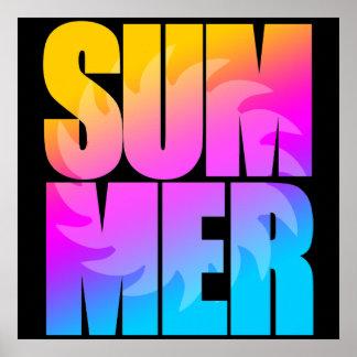 Corey Tiger-80er Sommer Sun Poster