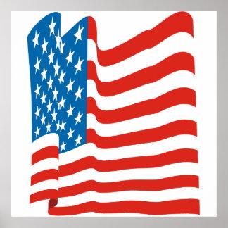 Corey Tiger-80er Vintage amerikanische Flagge Poster