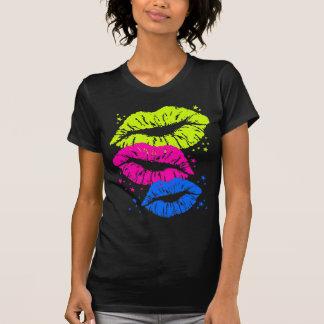 Corey Tiger-80er Vintage Lippen u. hat Küsse in T-Shirt