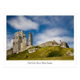 Corfe Schloss, Postkarte Dorsets, Vereinigtes