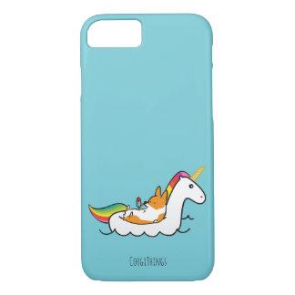 Corgi-Einhorn Floatie Telefon-Kasten iPhone 8/7 Hülle