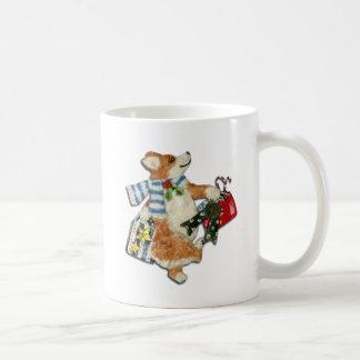 Corgi-Feiertags-Käufer Kaffeetasse