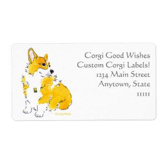 Corgi-gute Wunsch-Gewohnheits-Aufkleber Versandetikett