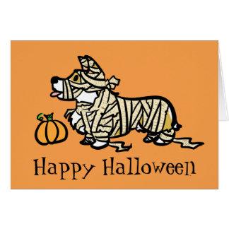 Corgi-Halloween-Mama Karte