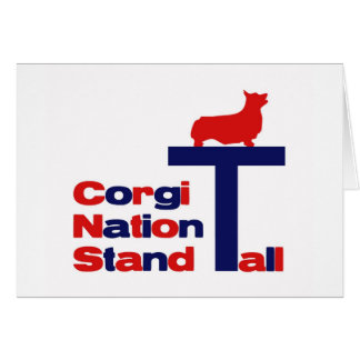 Corgi-Nations-Stand hoch Karte