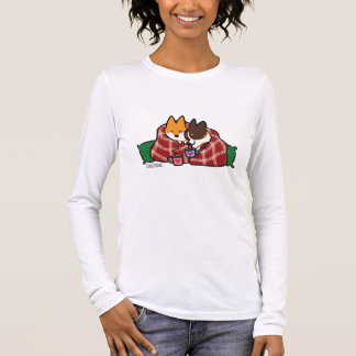 Corgi-Weihnachtssnuggle-Shirt Langarm T-Shirt