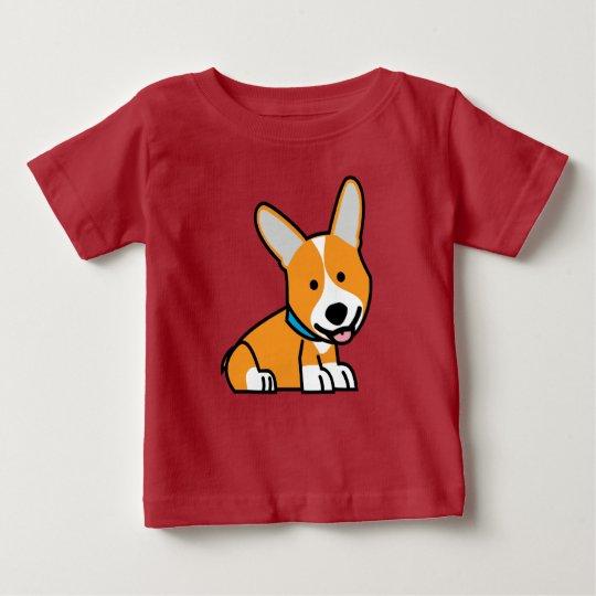 CorgiCorgis verfolgen Welpenhündchen glücklichen Baby T-shirt