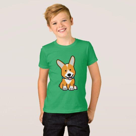 CorgiCorgis verfolgen Welpenhündchen glücklichen T-Shirt