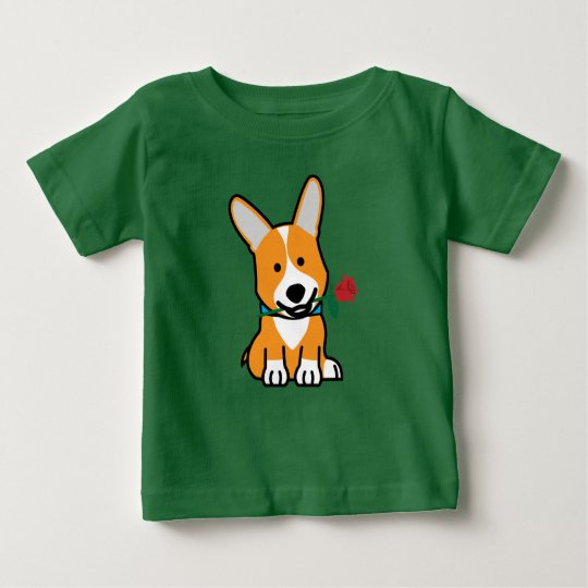 Corgihundewelpe Pembroke-Waliservalentine-Rose Baby T-shirt