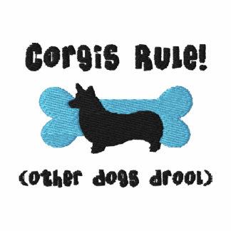 Corgis-Regel gesticktes Shirt (T - Shirt)