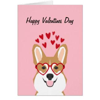 Corgivalentines-Liebe-Karte - niedlicher Hund Karte