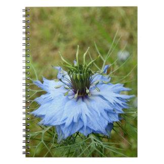 Cornflower-gewundenes Foto-Notizbuch Notizblock