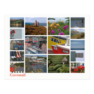 Cornwall Multibild 2 Postkarte