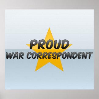 Correspondant de guerre fier affiches