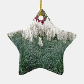 Cortaderia selloana bekannt als Pampas-Gras Keramik Ornament