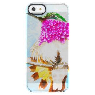 Costa-Kolibri-Aquarell Durchsichtige iPhone SE/5/5s Hülle