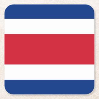 Costa Rica-Flagge Rechteckiger Pappuntersetzer