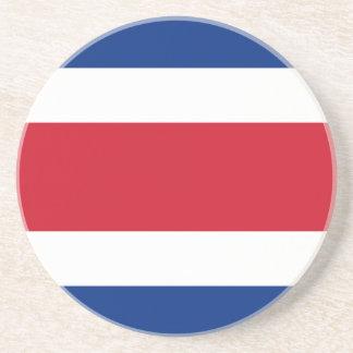 Costa Rica-Flagge Sandstein Untersetzer