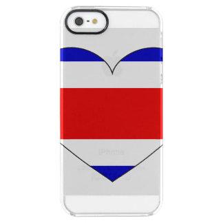 Costa Rica-Flaggen-Herz Durchsichtige iPhone SE/5/5s Hülle