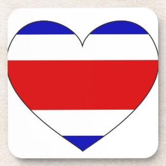 Costa Rica-Flaggen-Herz Getränkeuntersetzer