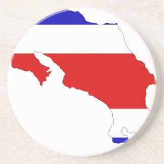 Costa Rica-Flaggen-Karte Sandstein Untersetzer