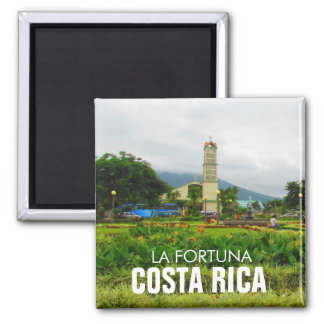 Costa Rica-La-Fortuna-Magnet Quadratischer Magnet