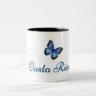 Costa Rica Morpho Schmetterlings-Tasse Zweifarbige Tasse