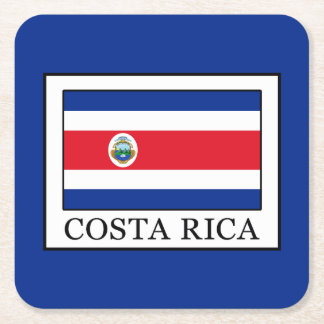Costa Rica Rechteckiger Pappuntersetzer