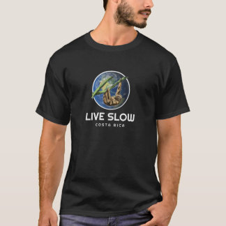Costa Rica Sloth-langsamer Andenken-lebhaftT - T-Shirt