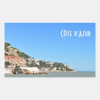 Côte d'Azur in Nizza, Frankreich Rechteckiger Aufkleber