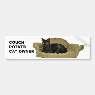 Couchkartoffel Katzen-Autoaufkleber Autoaufkleber