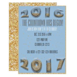 Count-down des neuen Jahres des Hourglass Karte
