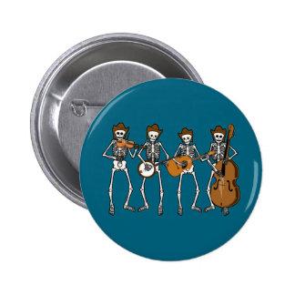 Countrymusik, die Skelette spielt Runder Button 5,7 Cm
