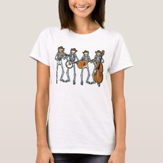 Countrymusik, die Skelette spielt T-Shirt