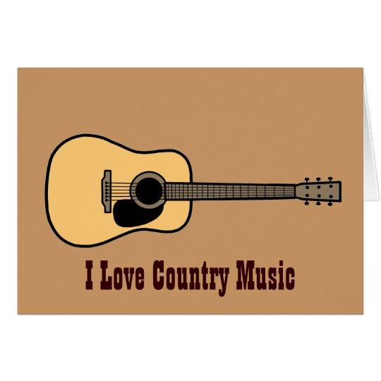 Countrymusik Grußkarte