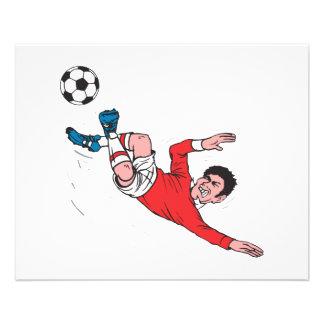 coup-de-pied du football de helluva prospectus 11,4 cm x 14,2 cm